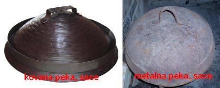Kovana i metalna peka, saće