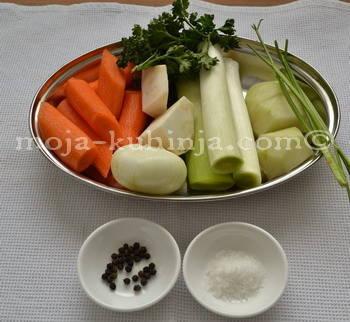 Grincajg, povrće za juhu
