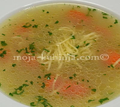 Pileća juha - juha od piceka