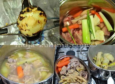 Priprema pileće juhe