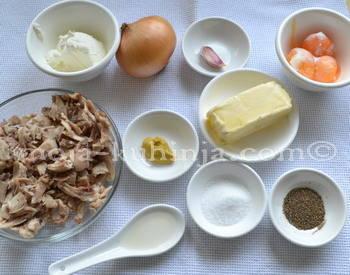 Sastojci za pileću paštetu