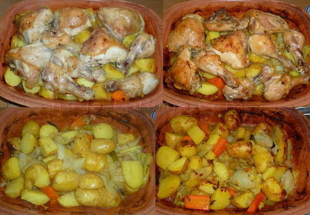 Pečenje piletine i krumpira ispod peke