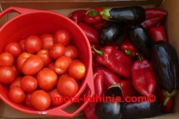 paradajz, paprika, patliđan