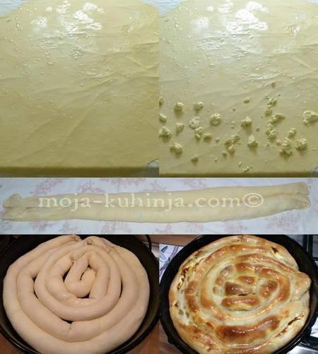 Pita od sira, sirnica priprema