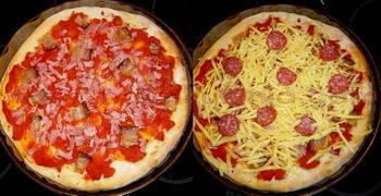 Slavonska pizza pečenje