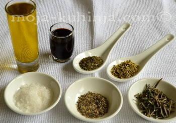Origano, timijan, ružmarin, maslinovo ulje