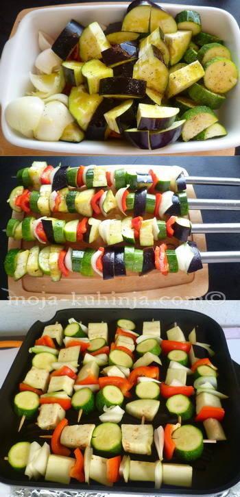 Priprema ražnjića od povrća