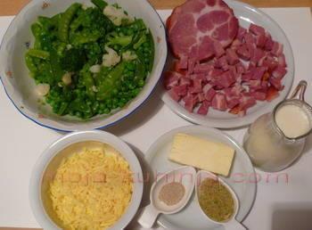 Povrće u umaku od sira i sušene vratine sastojci