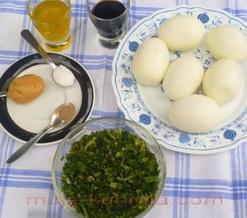 Sastojci za punjena jaja sa mišancijom