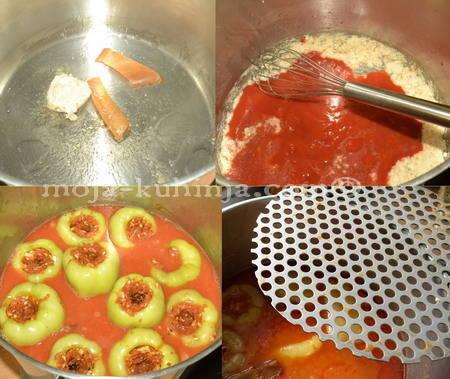 Kuhanje filane, punjene paprike