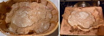 raženi kruh sa kiselim tijestom pred pečenje
