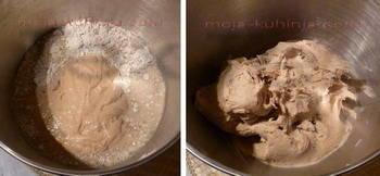 raženi kruh sa kiselim tijestom mješanje