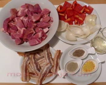 ražnjići sa mesom i povrćem sastojci