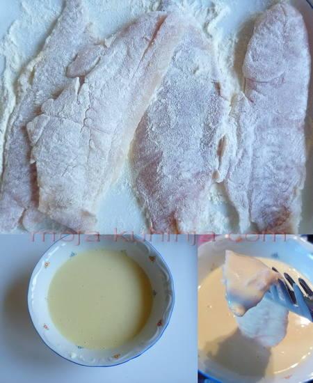 Paniranje ribljih fileta u pivskom tijestu