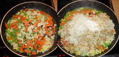 Riža sa povrćem priprema