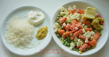 Riža sa povrćem sastojci