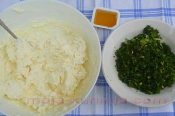 Priprema sirnog namaza sa mišancijom