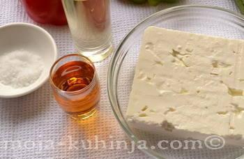 Feta sir, jabučni ocat i ulje
