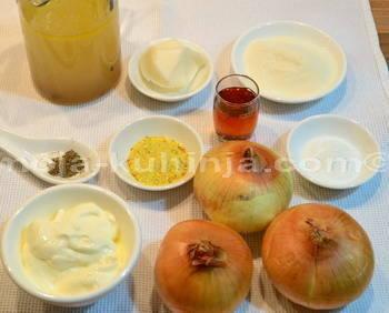 Sastojci za sos, umak od luka
