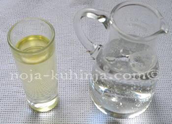 Premaz za štrukle - mineralna voda i ulje