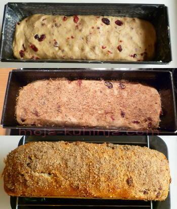 pečenje kolača sa brusnicama