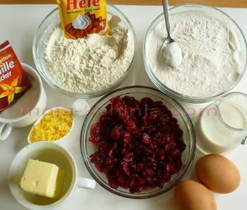 sastojci za kolač od brusnica