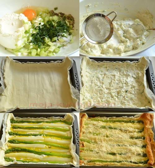 Priprema tart od vrtnih šparoga