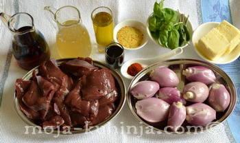Sastojci za teleća jetra na venecijanski