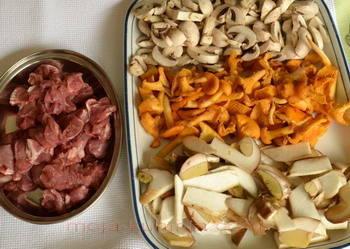 Mješane gljive i teletina
