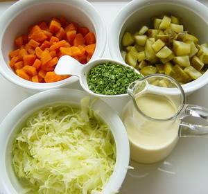 Tjestenina salata sa zeljem mrkvom krastavcima sastojci