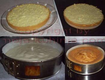 Torta vanilija sa čokoladnom glazurom priprema