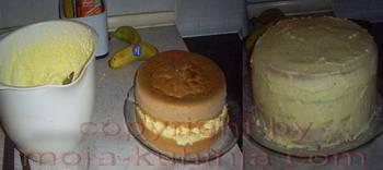 Torta vanilija sa čokoladnom glazurom nadjevanje