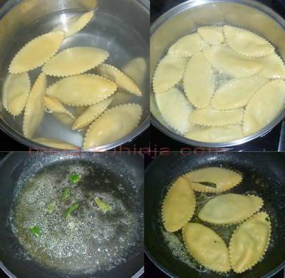 Kuhanje i prženje gotovih tortelina punjenih ricottom i špinatom