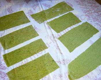 Zelena tjestenina razvaljano