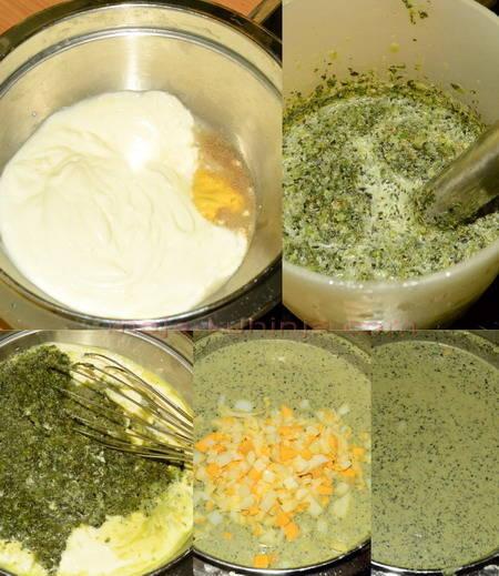 Priprema hladnog sosa od mišancije