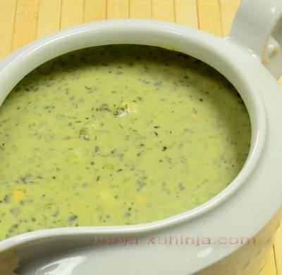 Hladni zeleni sos od mišancije