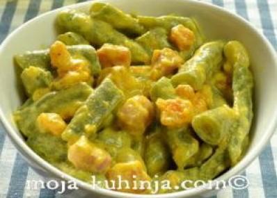 Salata od zelenih mahuna i hokkaido tikve
