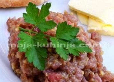 Tatarski od tune | Tuna tatar | Tatarski biftek